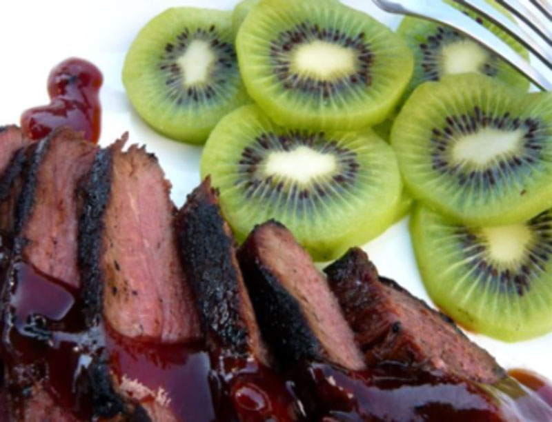 Corean Tender beef slices with kiwiberry marinade